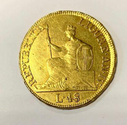 Italie – République de Ligure  Une Monnaie...