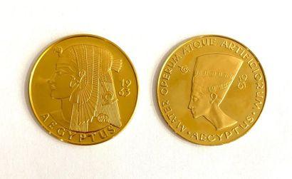 Allemagne –  Lot de deux médailles aux thème...