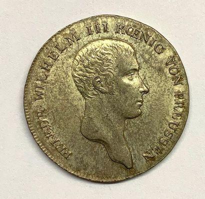 Allemagne – Prusse  1 Thaler Frédéric Guillaume...