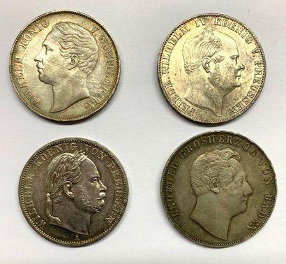 Allemagne – Prusse  Lot de quatre monnaies...