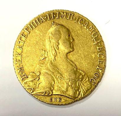 Russie – Catherine II  Une monnaie de 10...