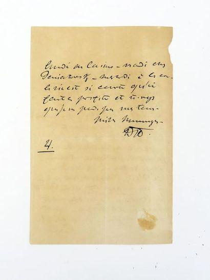 "DEMIDOFF (Anatole de) - 1812-1870. L.A.S. """"D"""", slnd, 1 p. in-8, à une princesse..."