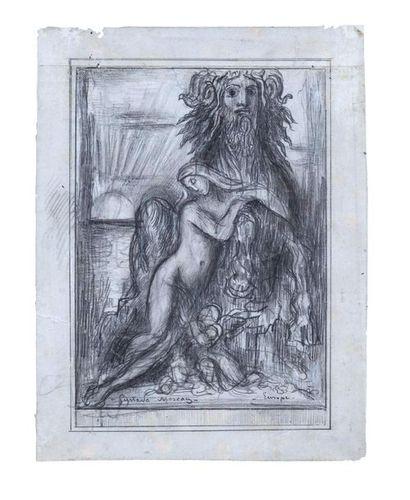 Gustave MOREAU (1826 – 1898) Europe Crayon...