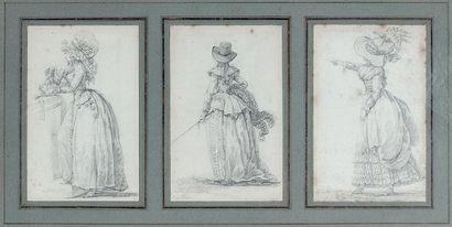 Louis Joseph WATTEAU dit WATTEAU de LILLE (Valenciennes 1731 - Lille 1798) Trois...