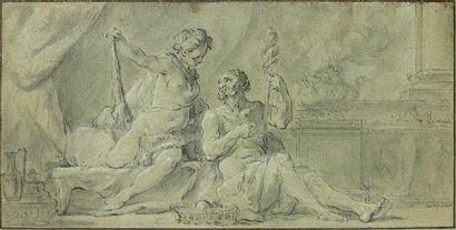 Ecole française du XVIIIème siècle Hercule...