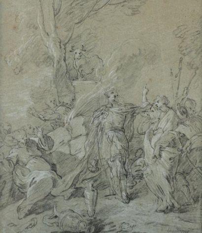 François LEMOYNE (1688 - 1737) Le veau d'or...