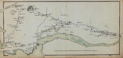 Carte d'estuaire de la Loire (Ecole française...
