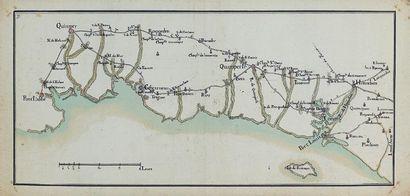 Carte de la cote bretonne (Ecole française...