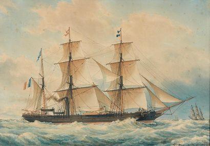 François ROUX (Marseille 1811 - 1882) Marine,...