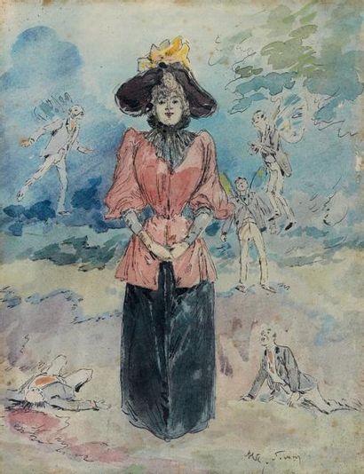 Henry SOMM (Rouen 1844 - Paris 1907) La...