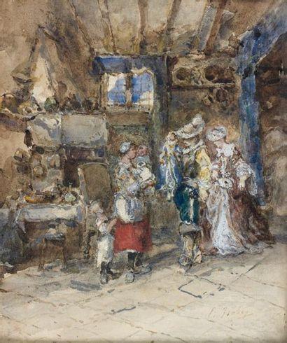 Eugène ISABEY (Paris 1803 - 1886) Scène...