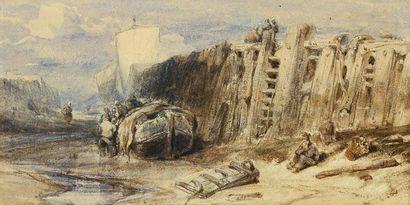 Eugène ISABEY (Paris 1803 - 1886) L'entrée...