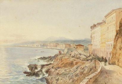Jacques GUIAUD (Chambéry 1811 - 1875) Vue...