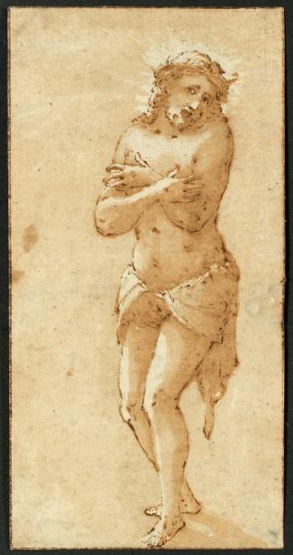 Ecole italienne du XVIème siècle Le Christ...