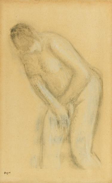 Edgar DEGAS (1834 - 1917) Etude de nue féminin...