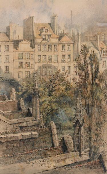 Charles JOUAS (Paris 1866 - 1942) Vue de...