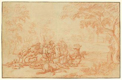 Attribué à Dirk MAAS (Harlem 1659 - La Haye...