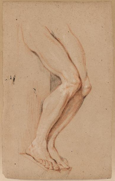 Entourage d'Antoine COYPEL (1661 - 1722) Etude de jambes Trois crayons sur papier...