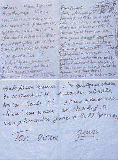 COCTEAU Jean. Réunion de 18 lettres autographes...