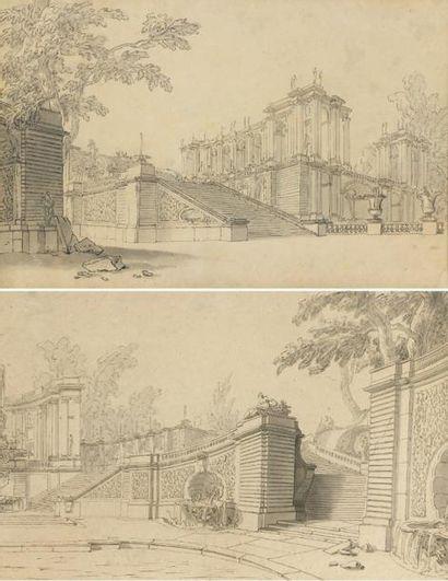 Jacques de LAJOUE (1686 - 1761) Une paire...