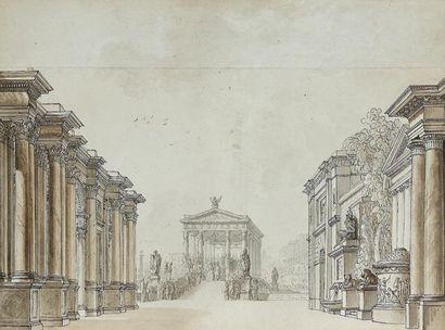 Attribué à Louis-Jean DESPREZ (Auxerre 1743...