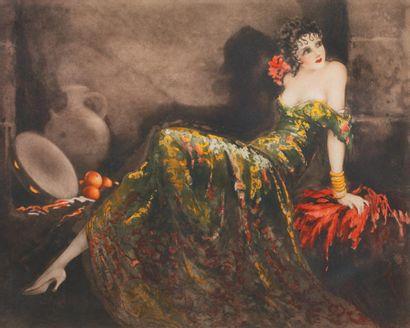 Louis ICART (1888 - 1950) Gitane (Gay Senorita)...