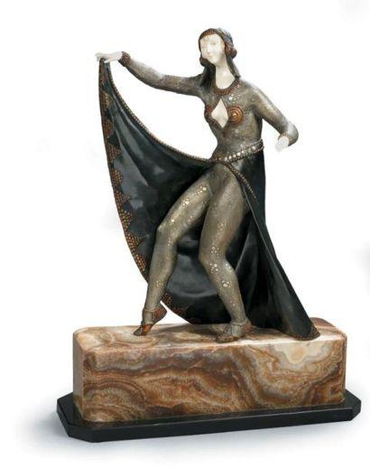 C. RIGAULT Danseuse Sculpture chryséléphantine...