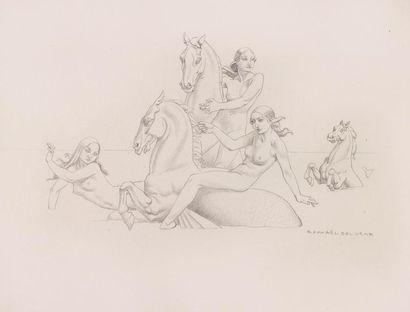 Raphaël DELORME (1886 - 1962) Les trois...