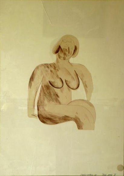 David HOCKNEY Nu féminin Lithographie Signé...