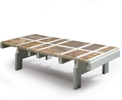 Roger CAPRON Table basse à structure et...
