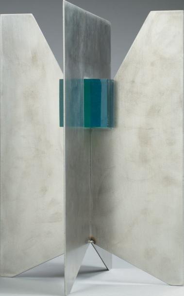 DEGAN Sculpture en acier inoxydable et résine...