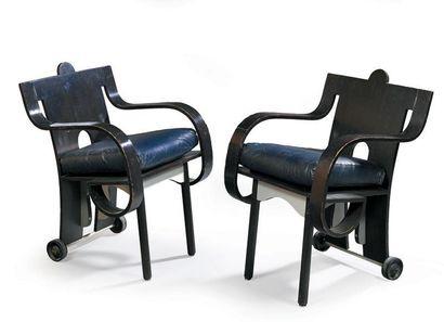 Jean Michel WILMOTTE Suite de six fauteuils...