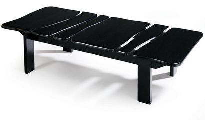 Isabelle AZEMA 2000 Table basse en bois...