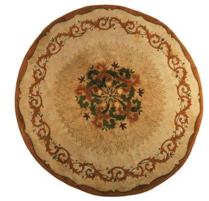 LELEU Tapis en laine de forme circulaire...