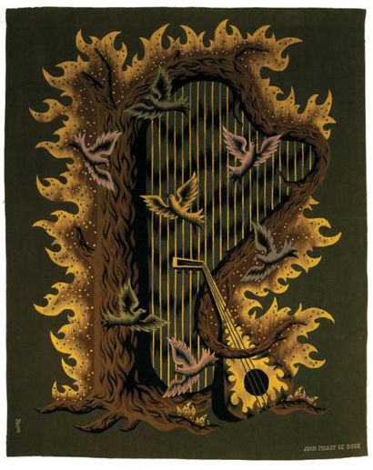 Jean PICART-LEDOUX (1902 - 1982) Harpe de...
