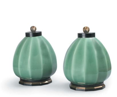 Paul MILLET (Sèvres) Paire de vases en céramique...