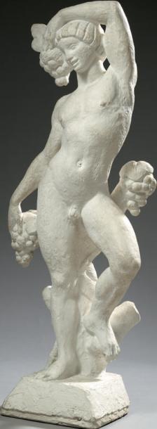 J. CARDELLA Jeune Bacchus Sculpture en plâtre...