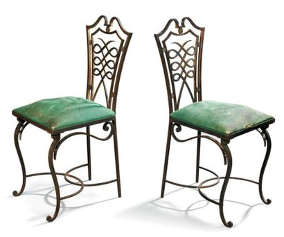 Raymond SUBES (1893 - 1970) Paire de chaises...