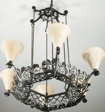 Edgard BRANDT (1880 - 1960) Important lustre...