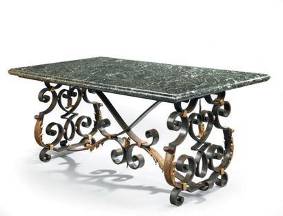 Raymond SUBES (1883-1970) Table d'apparat...