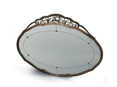 Paul KISS (attribué à) Miroir en fer forgé...