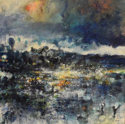 Joss BLANCHARD (1968-)  Reflets  Huile sur...