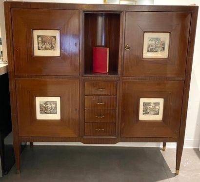 Cabinet attribué à Paolo BUFFA (1903-1970)...