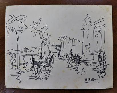 Emmanuel BELLINI (1904-1989)  Promenade sur...
