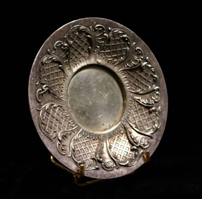 GALLIA  Silver-plated metal bowl with relief...