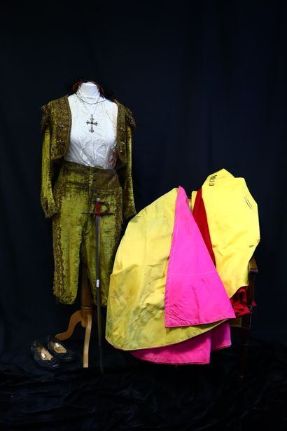 Bullfighter's outfit, silk embroidered lady's...