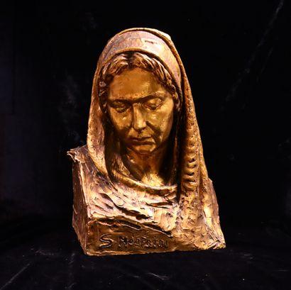 Silvio MONFRINI (1894 -1869)  Madone  Sculpture...