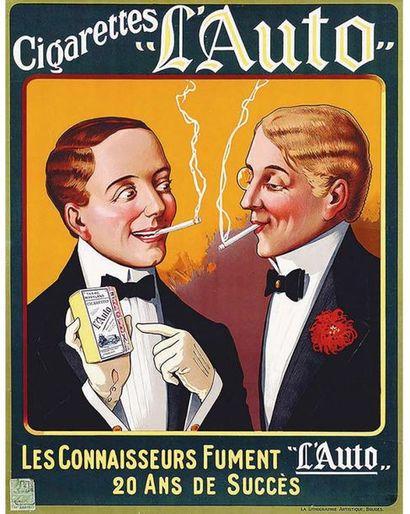 Auto Les Connaisseurs Fûment L'Auto 20 ans de Succès Favorites des Français Tabac Maryland Très Rare 1927