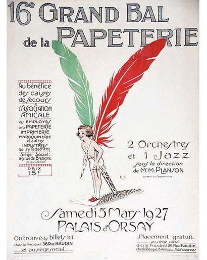 Roch Maurice Dupuy & Cie Paris   Affiche entoilée/ Vintage Poster on Linnen T.B.E....
