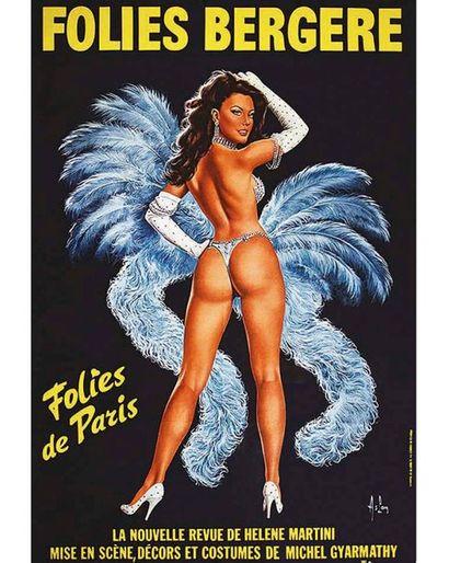 ASLAN ALAIN ( ALAIN GOURDON ) Saint Martin Asnières   Affiche entoilée/ Vintage Poster...